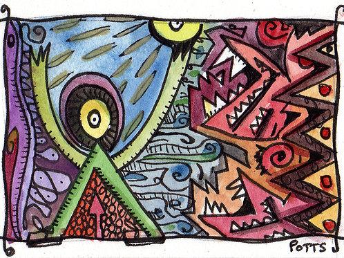 The Escape Original Watercololor Sketch
