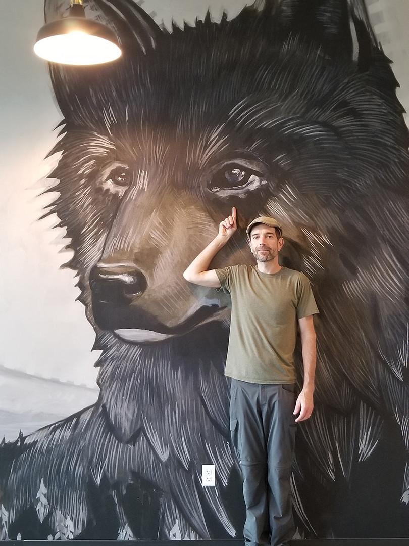 interior mural install