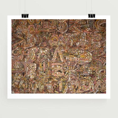 """Harvest Moondance"" fine art print of original abstract art on canvas by American visual artist, Justin Potts"
