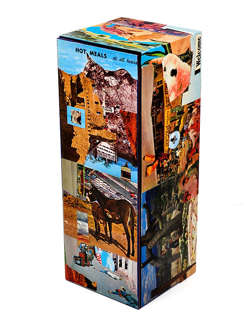 Hot Meals at all Times Original Collage Decorative Art Box