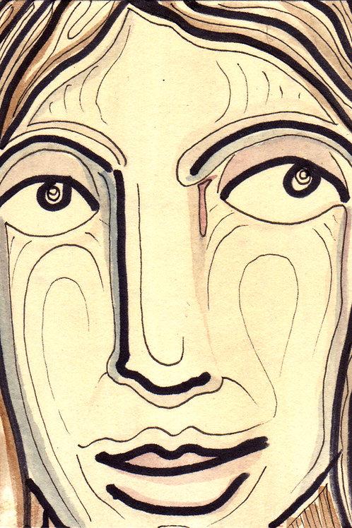 Reena Small Original Watercololor Sketch