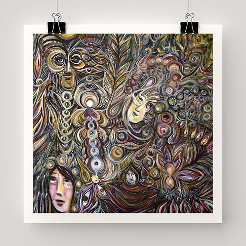 """""""Momentary Mystery"""" fine art print from original painting on canvas by Justin Potts"""