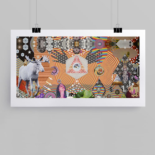 """New Again"" fine art print of original mixed media intuitive art by Justin Potts"