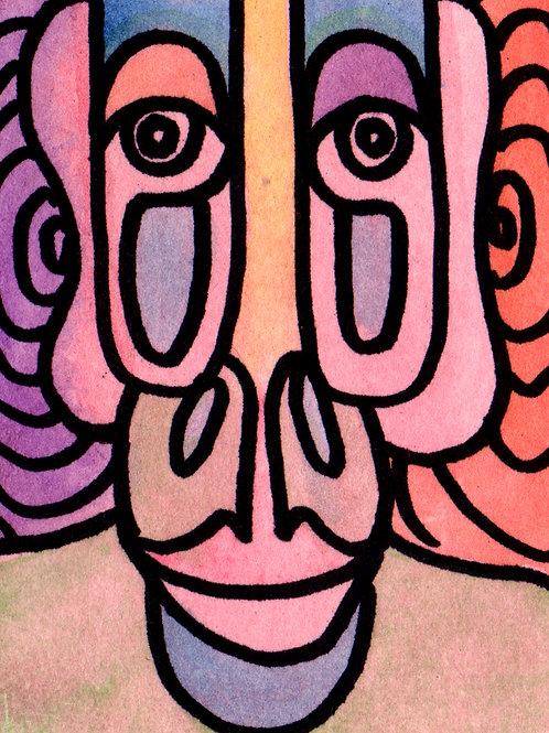 Listener Original Watercololor Sketch