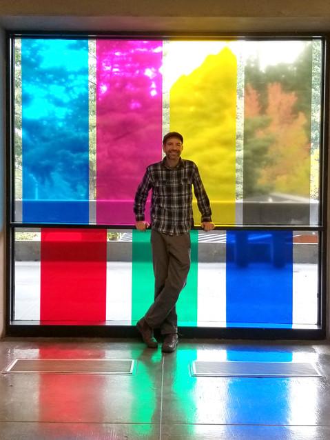 color film install for artist Emily Ginsburg