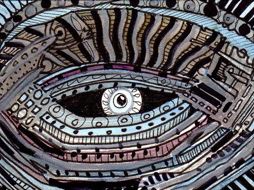 Space Eye Original Watercololor Sketch