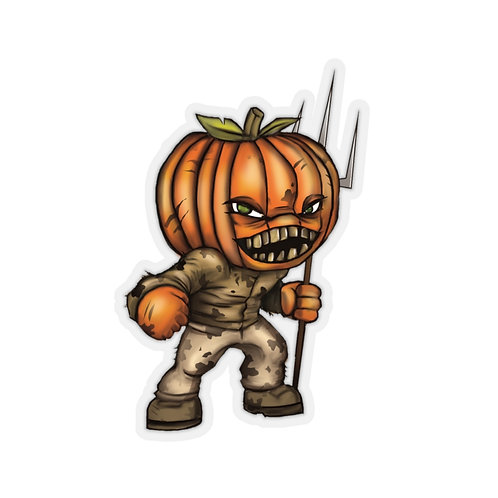 Pumpkin Head Kiss Cut Sticker