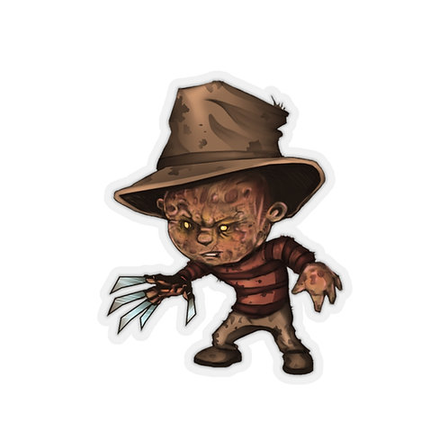 Freddy Kiss Cut Sticker