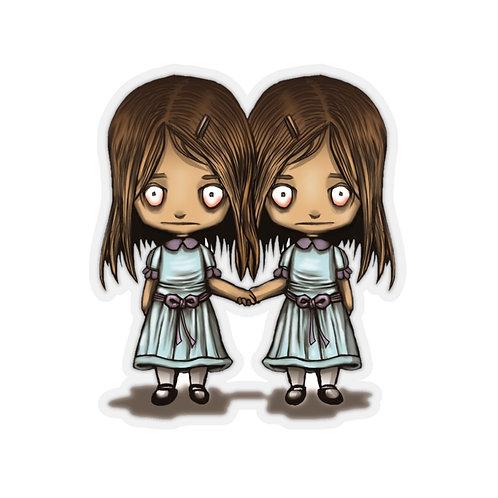 The Shining Twins Kiss Cut Sticker