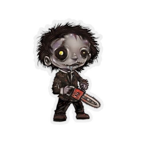Leatherface Kiss Cut Sticker