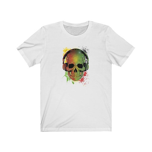 Music Lover Skull Unisex Short Sleeve Tee