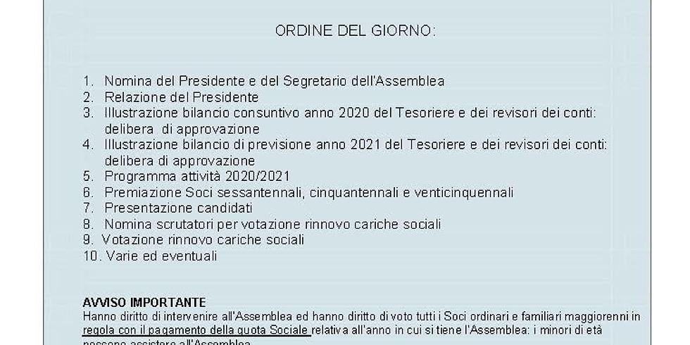 Assemblea ordinaria dei soci 2021