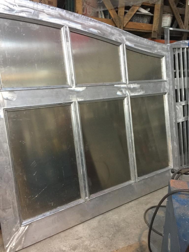 Gate In Raw Aluminum