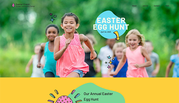 Eventer website templates – Easter Egg Hunt