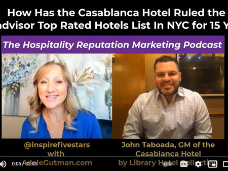 How the Casablanca Hotel by Library Hotel Collection has Ruled the Top of the Charts on Tripadvisor