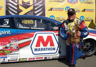 NHRA Champion Allen Johnson, Marathon Petroleum Announce Extended Sponsorship Agreement
