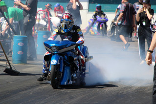 Team Liberty Racing Cory Reed and Angelle Sampey Reach Quarterfinal Finish at NHRA Gatornationals