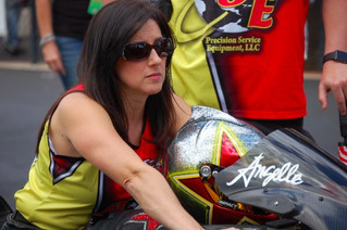 Untimely Red Light Ends Angelle Sampey's Day at NHRA Four-Wide Nationals