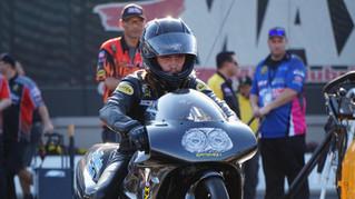 Joey Gladstone Rides San Marino Excavating Suzuki to No. 11 Qualifying Spot at NHRA Carolina Nationa