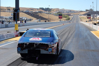 Tire Shake Ends Allen Johnson's Day Early at Sonoma Nationals in Marathon Dodge Dart