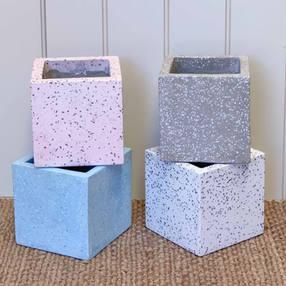 Terrazzo Cube Pot