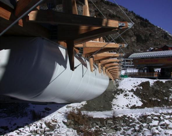 Tensairity - Pont de Val Cenis, Suisse - 52x10 m, Charge max. 780 Ton. (1500 kg.m-2) 3