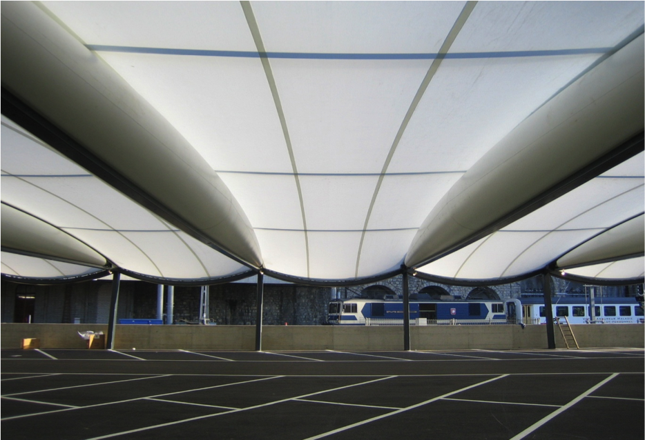 Tensairity - Garage Parc Montreux Station, 2004 - Architecte Rodolf Luscher, Lausanne 1