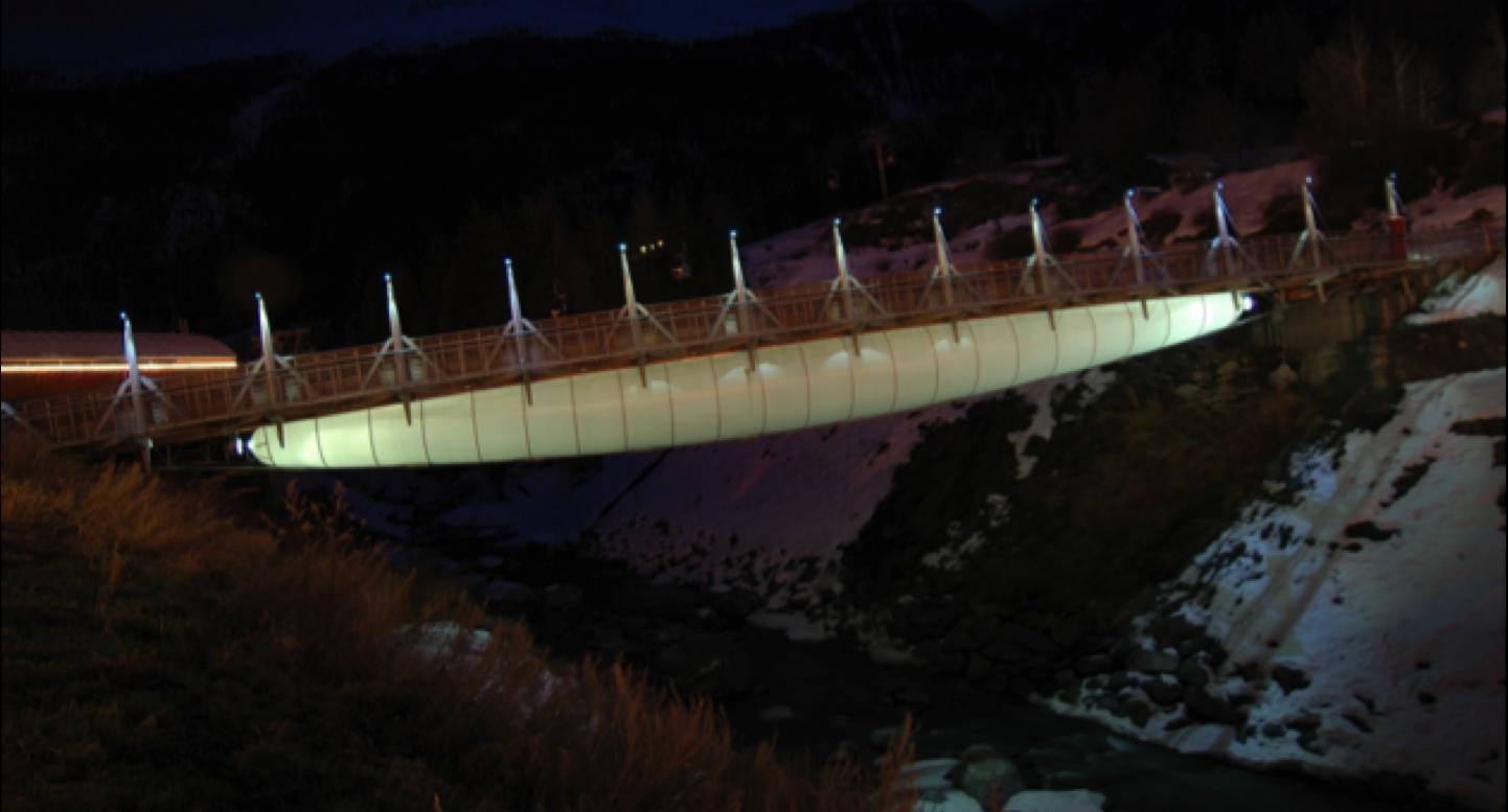 Tensairity - Pont de Val Cenis, Suisse - 52x10 m, Charge max. 780 Ton. (1500 kg.m-2) 5