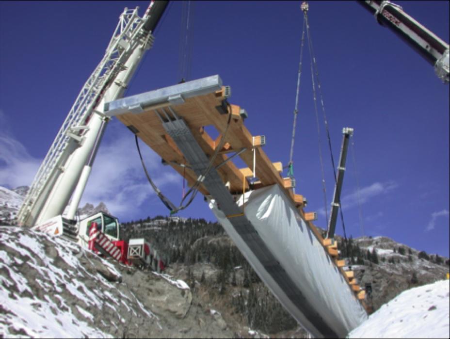 Tensairity - Pont de Val Cenis, Suisse - 52x10 m, Charge max. 780 Ton. (1500 kg.m-2) 4