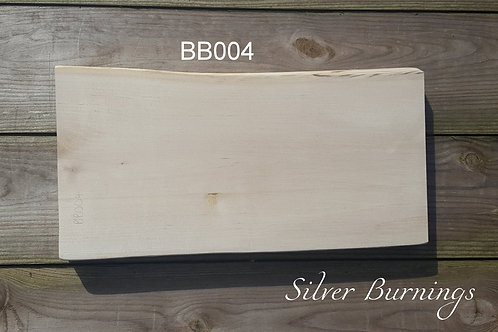 "Silver Birch Rustic Board 12"" x 6"" NO BARK"
