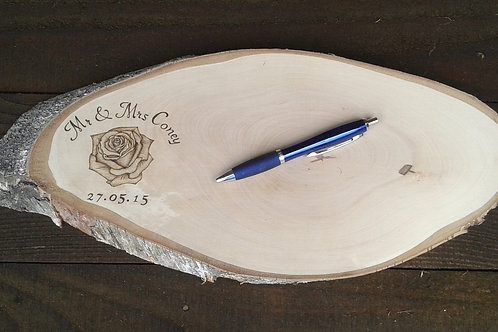 Personalised Guestbook plaque - Large