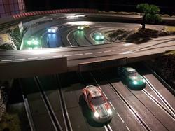 mobile Autorennbahn für 6 Fahrer