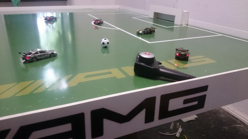 Auto-Fußball für Veranstaltung