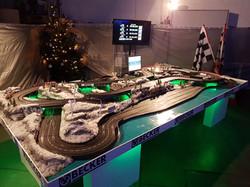 Carrerabahn in Winterlandschaft