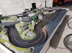 Carrerabahn mit Fahrradantrieb