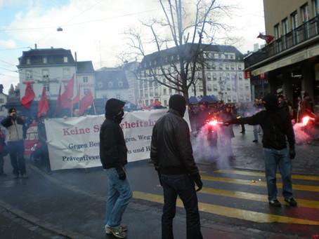 Antirepressionsdemo in Basel und Vorwärtsfest in Zürich