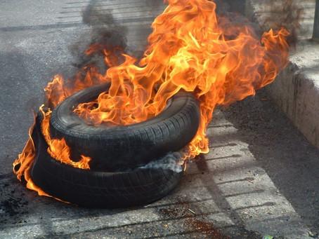 Reifen brennen vom Gazastreifen bis nach Zürich