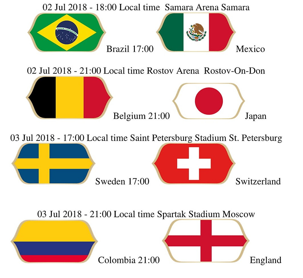 2nd and 3rd July World Cup Games.Showing Live at Piri Piries