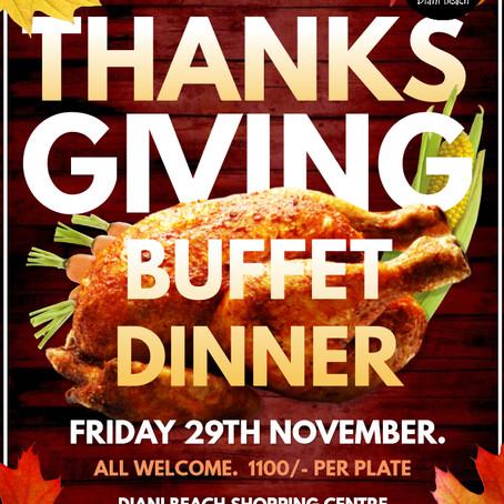 Thanks Giving Buffet Dinner