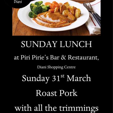 Sunday Lunch Roast Pork