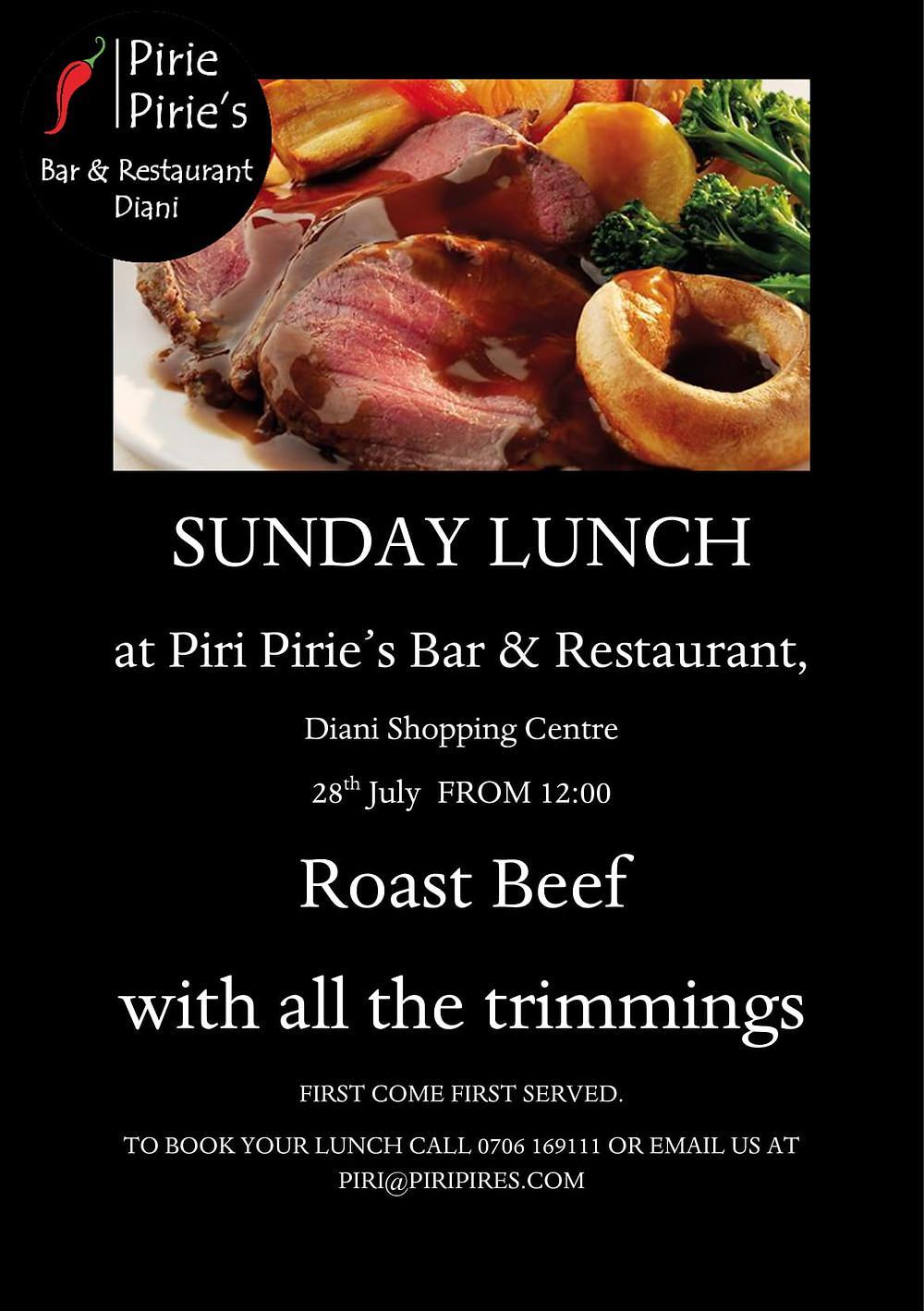 Roast Beef at Piri Piries