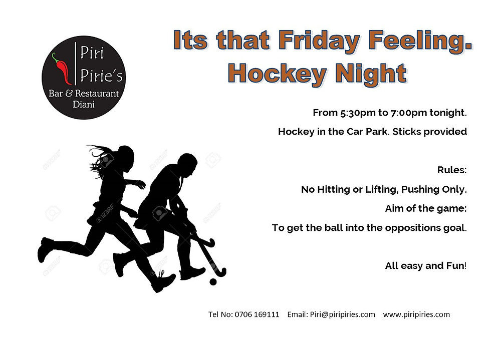 Friday Night Hockeyat Piri Pirie's