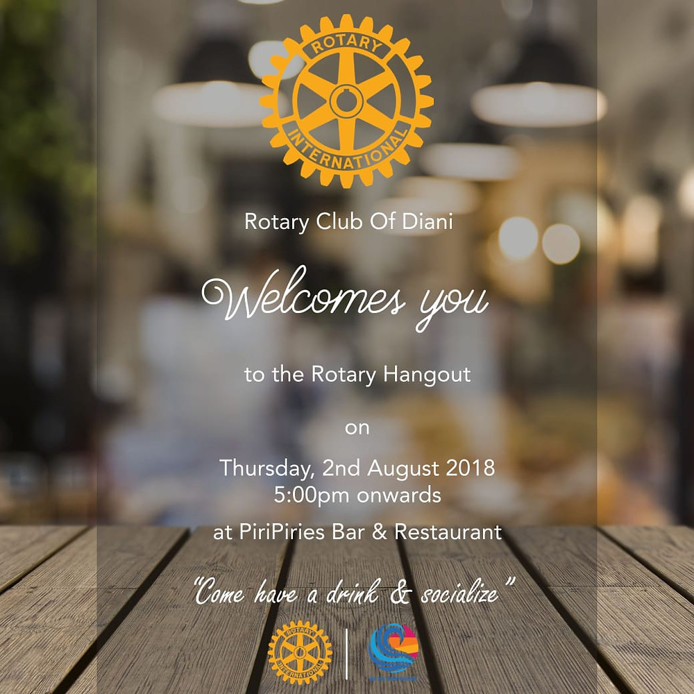 Rotary Club Social Evening 2nd August from 5pm