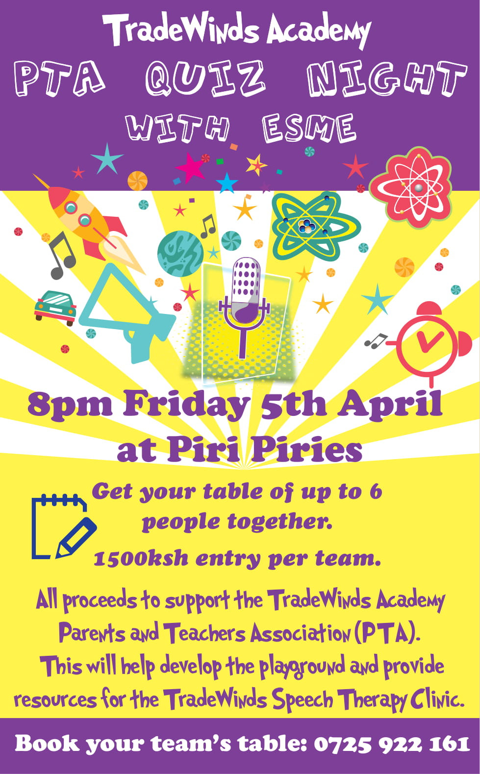 Fundraising Quiz for Tradewinds Speech Therapy Unit
