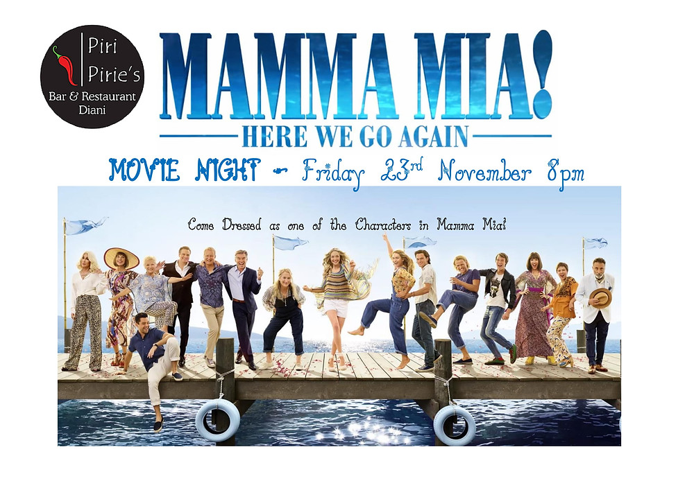 Mamma Mia Movie Night @ Piri Pirie's 23rd Nov 8pm