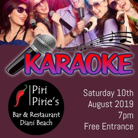 Karaoke at Piri Pirie's