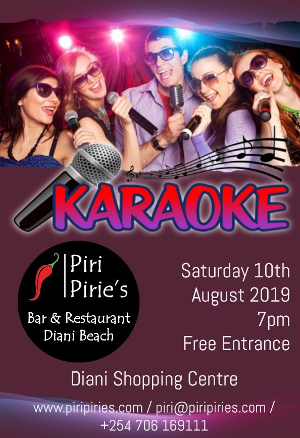 Karaoke at Piri Pirie's