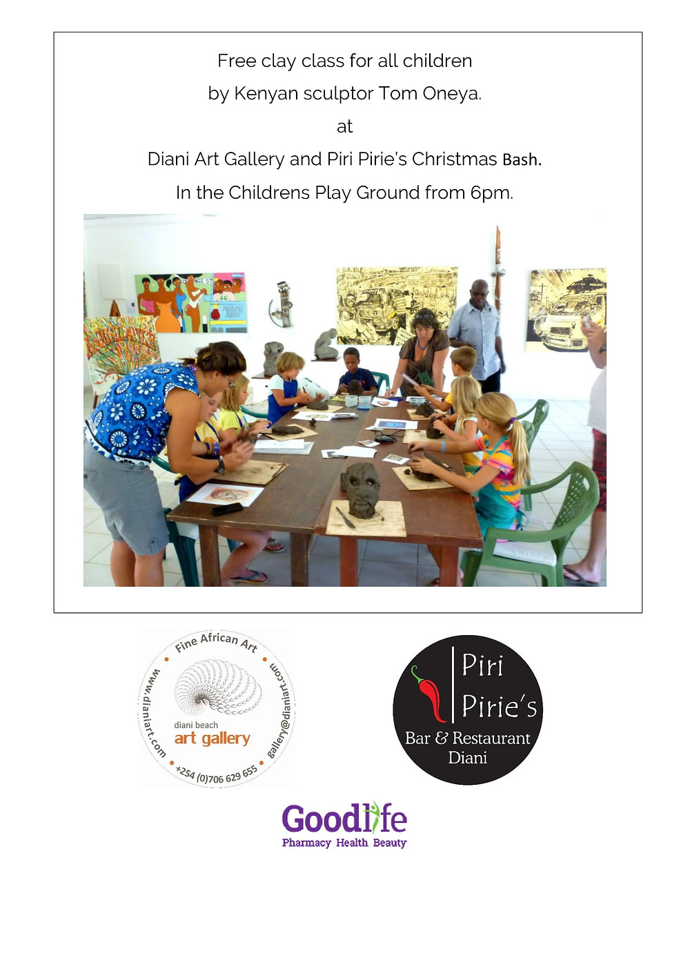Free Clay works for the Kids Friday 21st