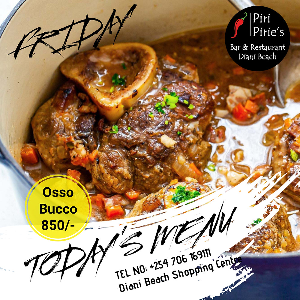 Its Friday and its Osso Bucco Day