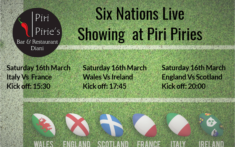 Last Day of the Six Nations Live at Piri Pirie's 16th March